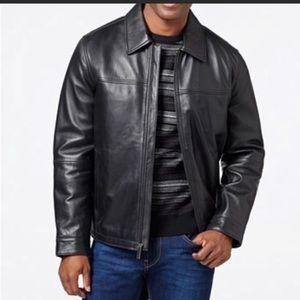 Perry Ellis Portfolio Lamb Leather Jacket Sz Large